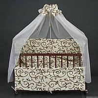 """Комплект  постельного белья для новорожденного """" Ажур"""""""