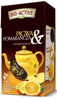 Чай черный Big active Pigwa Pomarancza (Биг актив черный с айвой и апельсином) 80 г.