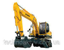 R170W-9  · Двигатель HYUNDAI HE6.7 · Ковш 0,76 (0,99) (㎥ (ярда3)) · Рабочий вес 17300 (38140) (кг (фунт)) · Эталонная модель R170W-9