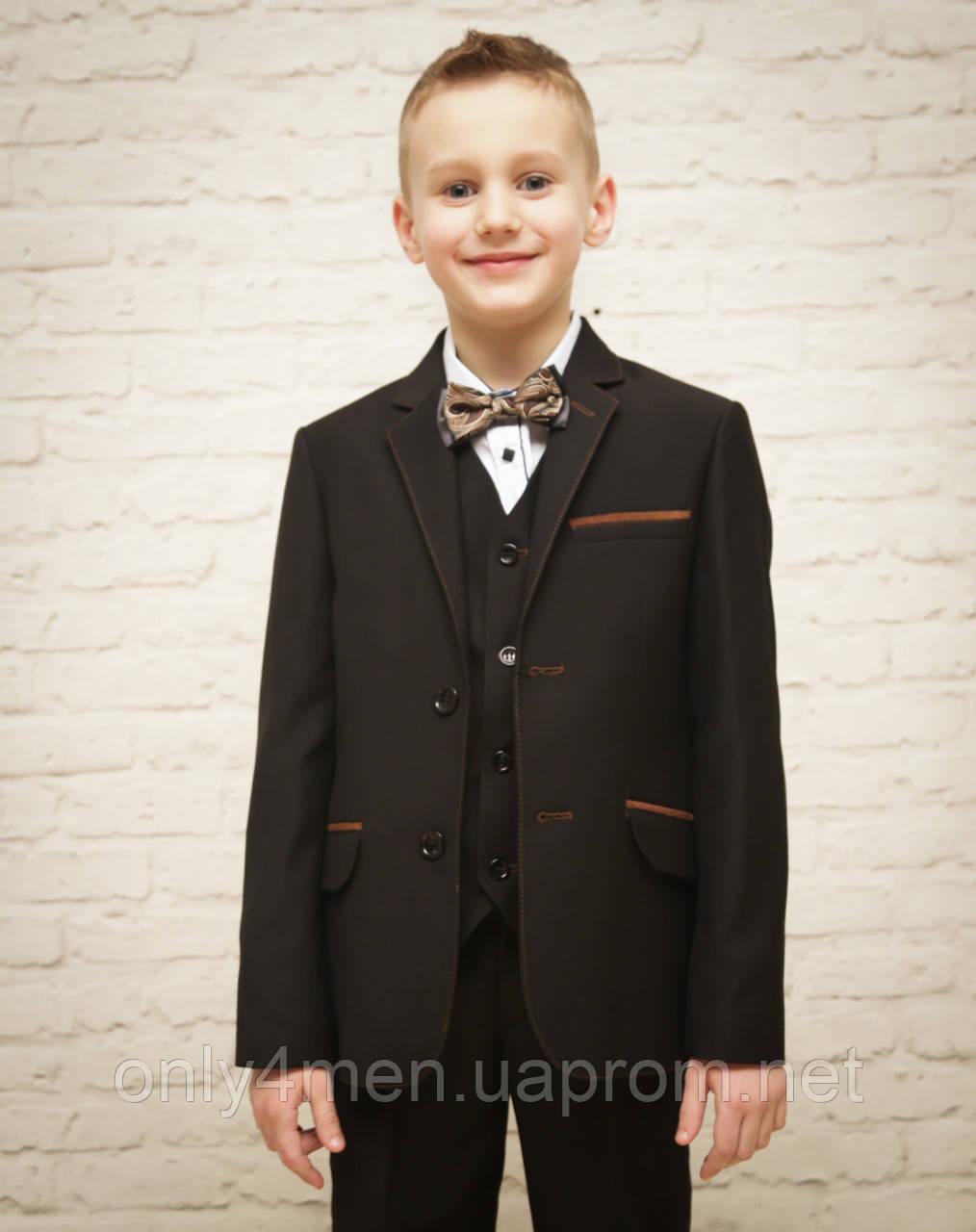 Классический костюм для мальчика.черный цвет 116-140см