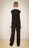 Классический костюм для мальчика.черный цвет 116-140см, фото 3