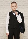 Классический костюм для мальчика.черный цвет 116-140см, фото 4