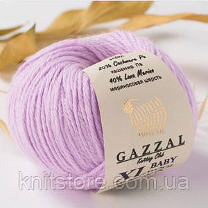 Пряжа Gazzal Baby Wool XL Бузковий