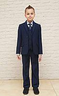 Школьная форма синяя для мальчиков, 116-140 или 110-128