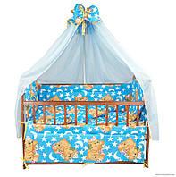 """Комплект постельного белья для новорожденного """"Мишки спят"""""""