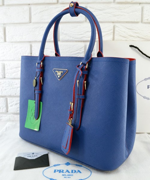 200e84439bac Женская сумка PRADA CUIR DOUBLE BAG ROYAL BLUE (6925) - Интернет-магазин  VipSymki