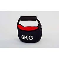 Гиря 6 кг мягкая неопреновая FI-604-6