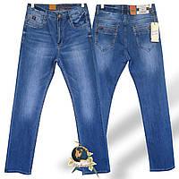 Джинсы мужские прямые классического покроя голубого цвета Baron.