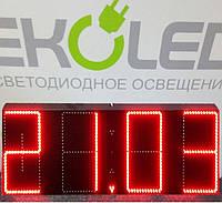 Светодиодные часы (дата, время, температура) 300*900мм