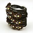 Резинка для волос черная с цветком разноцветным, фото 3