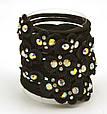 Резинка для волос черная с цветком разноцветным, фото 4