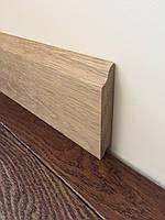 Плинтус дубовый массивный цельный 80х20 (8 см)