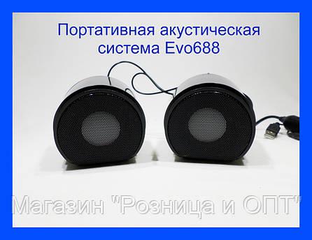 Компьютерные колонки 2.0 акустика EVO 688!Хит, фото 2