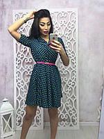 Короткое легкое платье креп-шифон