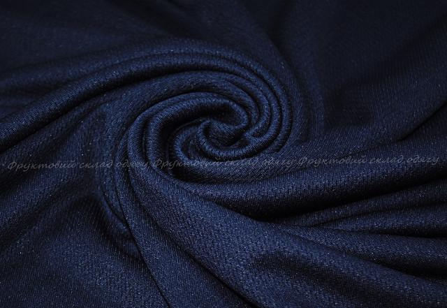 Глубоко тёмно-синяя женская спортивная футболка
