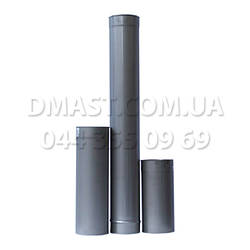 Труба для димоходу діаметр 100мм, 1м, 0,8 мм з нержавіючої сталі AISI 304