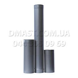 Труба для дымохода диаметр 100мм, 1м, 0,8мм из нержавеющей стали AISI 304