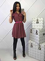 Красное платье в горох