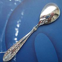 Серебряная чайная ложка с орнаментом, фото 2