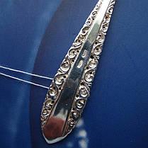 Серебряная чайная ложка с орнаментом, фото 3
