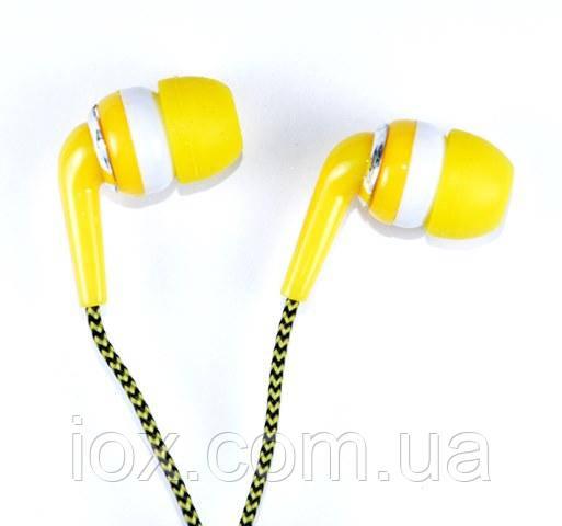 Желтые вставные наушники вкладыши Awmax AX-470