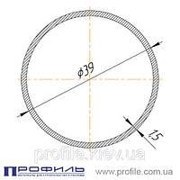 Труба круглая, алюминиевая 39х1.5 анод. серебро, L=6м