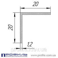 Уголок алюминиевый 20х20х1.2 без покрытия, L=6м