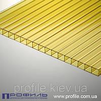 Сотовый поликарбонат Polygal желтый 8мм