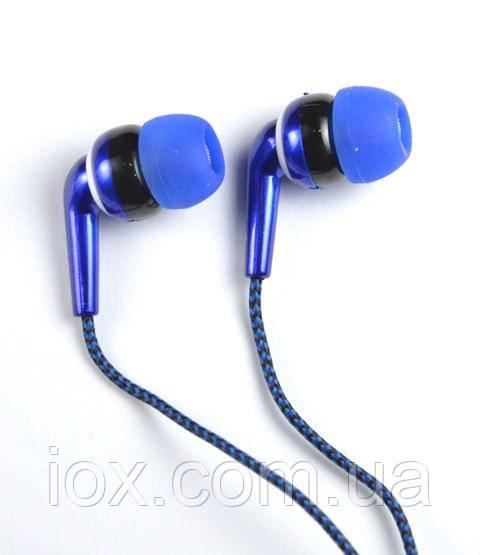 Синие вставные наушники вкладыши Awmax AX-470