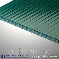 Сотовый поликарбонат Polygal зеленый 6мм