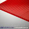 Сотовый поликарбонат Polygal красный 6мм