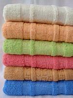 Махровое полотенце для лица  красивый узор