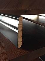 Черный плинтус высокий деревянный Классик 12 см