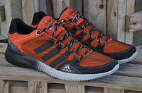 Мужские кожаные кроссовки Adidas orange