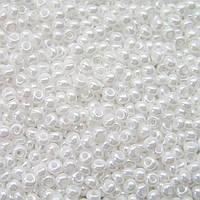 Бисер Preciosa Чехия №46102  белый, перламутровый , размер 6/0