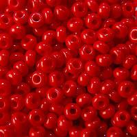 Бисер Preciosa Чехия №93170  красный, натуральный , размер 6/0