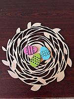 """Пасхальный венок """"Яйца в гнезде"""""""