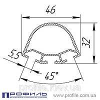 Торгово-выставочный профиль 2549 (алюминиевый), цвет: Белый RAL 9016