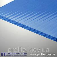 Сотовый поликарбонат Polygal металлик синий 8мм
