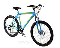 Спортивный велосипед 26 дюймов Azimut Swift  217-G-1(оборудование SHIMANO) синий***