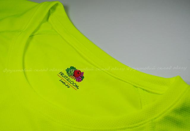 Ярко-жёлтая женская спортивная футболка