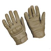 Тактические перчатки с защитой, coyote. Mil-tec, Германия.