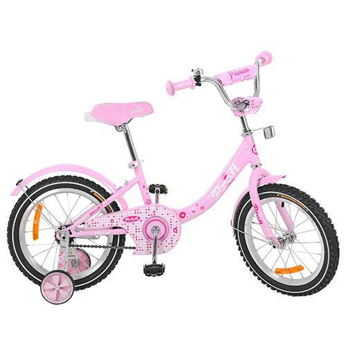 Двухколесный велосипед PROFI 18 дюймов G1811 Princess розовый