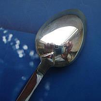 Серебряная подарочная чайная ложка с цветами, фото 3