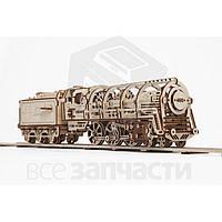 Механический 3D-пазл UGEARS Локомотив с тендером