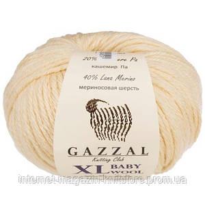 Пряжа Gazzal Baby Wool XL Екрю