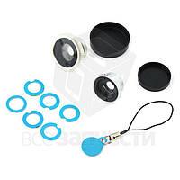 Комплект съемных магнитных объективов для IP-камеры (широкоугольный-макросъемка-рыбий глаз)