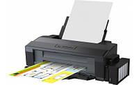 Принтер струйный цветной A3+ Epson L1300 (C11CD81402), Black, 5760х1440 dpi, до 15/5,5 стр/мин, USB, встроенное СНПЧ по 70 мл + доп. контейнера с