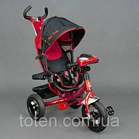 Велосипед трехколесный с фарой Best Trike 6588B (надувные колеса), красный