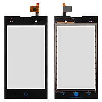 Сенсорный экран (touchscreen) для ZTE V815W Kis 2, черный, оригинал